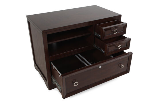 Adjustable Shelf Contemporary Utility File in Walnut