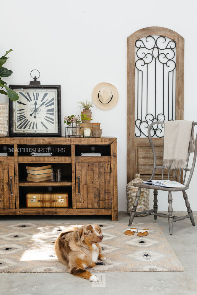 Plank top casual tv stand in brown mathis brothers furniture for West mathi best item