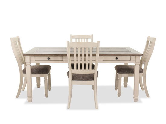Five-Piece Contemporary Dining Set in Antique White