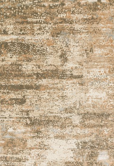 """Transitional 6'-7""""x9'-2"""" Rug in Ivory/Camel"""
