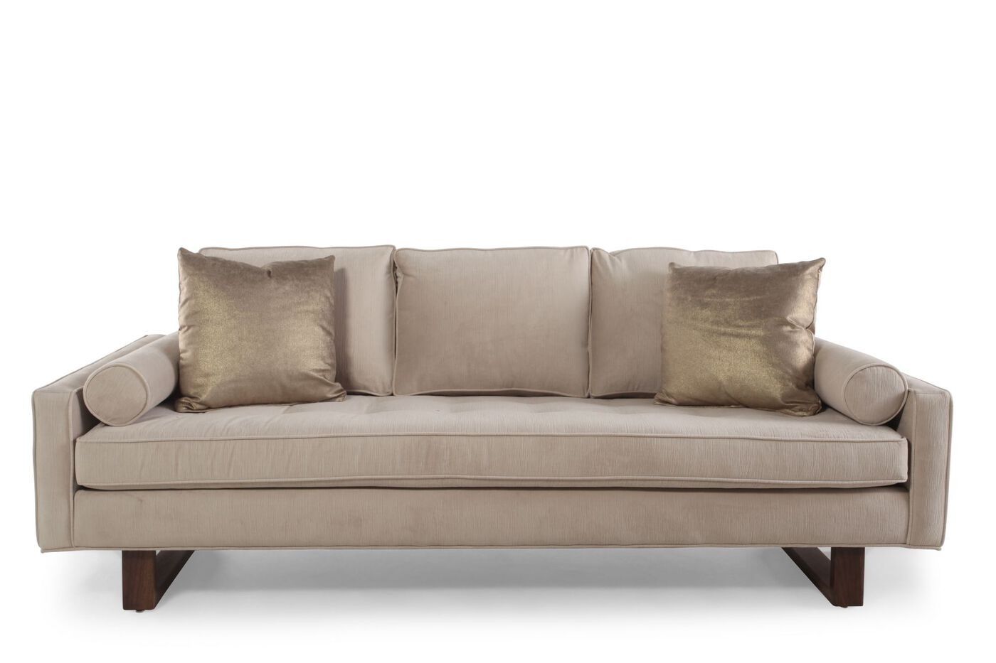 Contemporary 89 Sofa In Cream Mathis Brothers Furniture