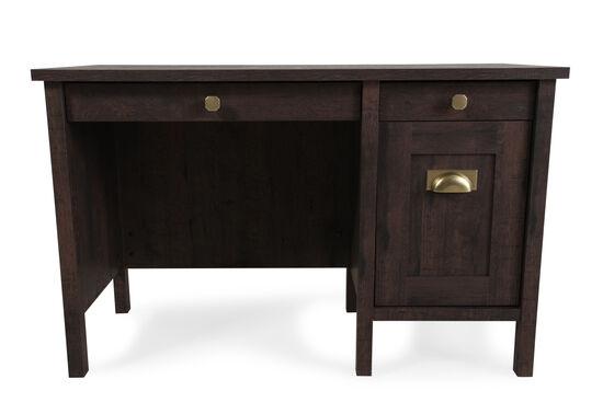 "47.5"" Casual Three-Drawer Desk in Coffee Oak"