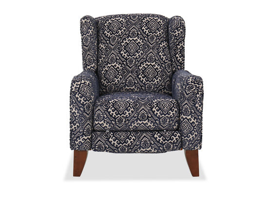 "33"" Contemporary Hi Leg Recliner in Navy"