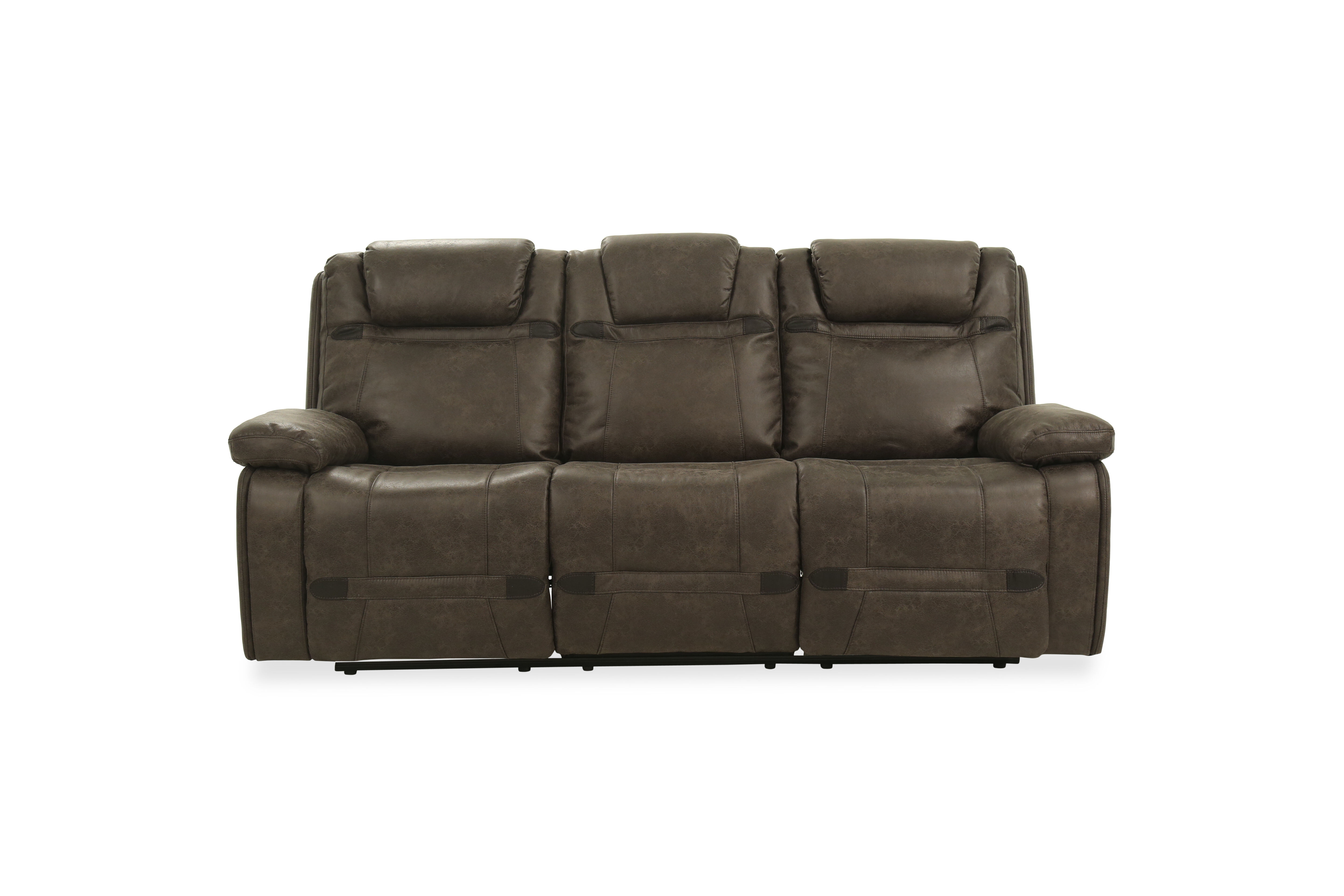 Flaunting Plush Leather Upholstery, This Casual Style Power Reclining Sofa  Lends An Effortless Makeover To Your Living Room Presentation.