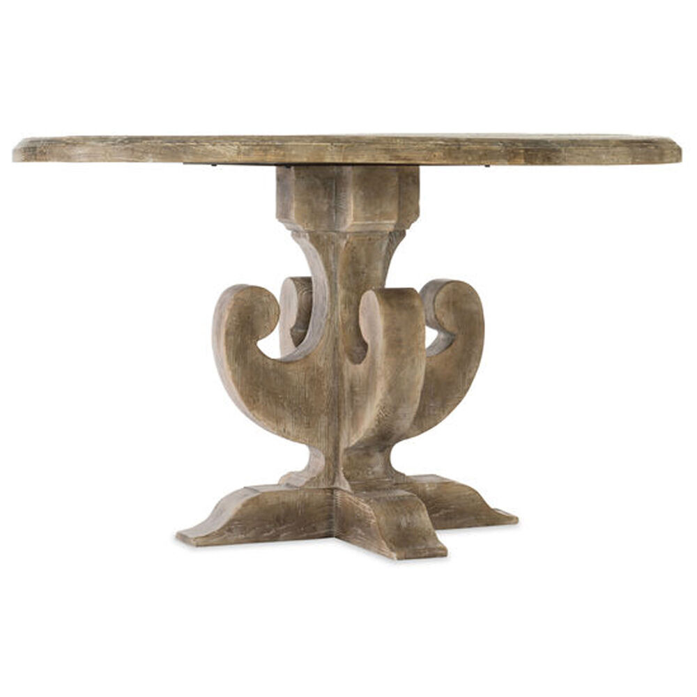"""Boheme Ascension 48"""" Wood Round Dining Table in Light Wood"""
