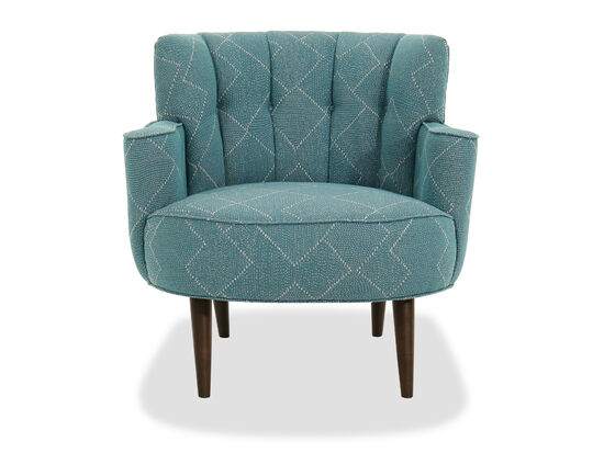 """Channeled Back Contemporary 35"""" Accent Chair"""