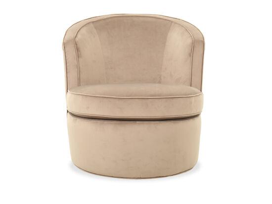 "29"" Contemporary Swivel Accent Chair in Cream"