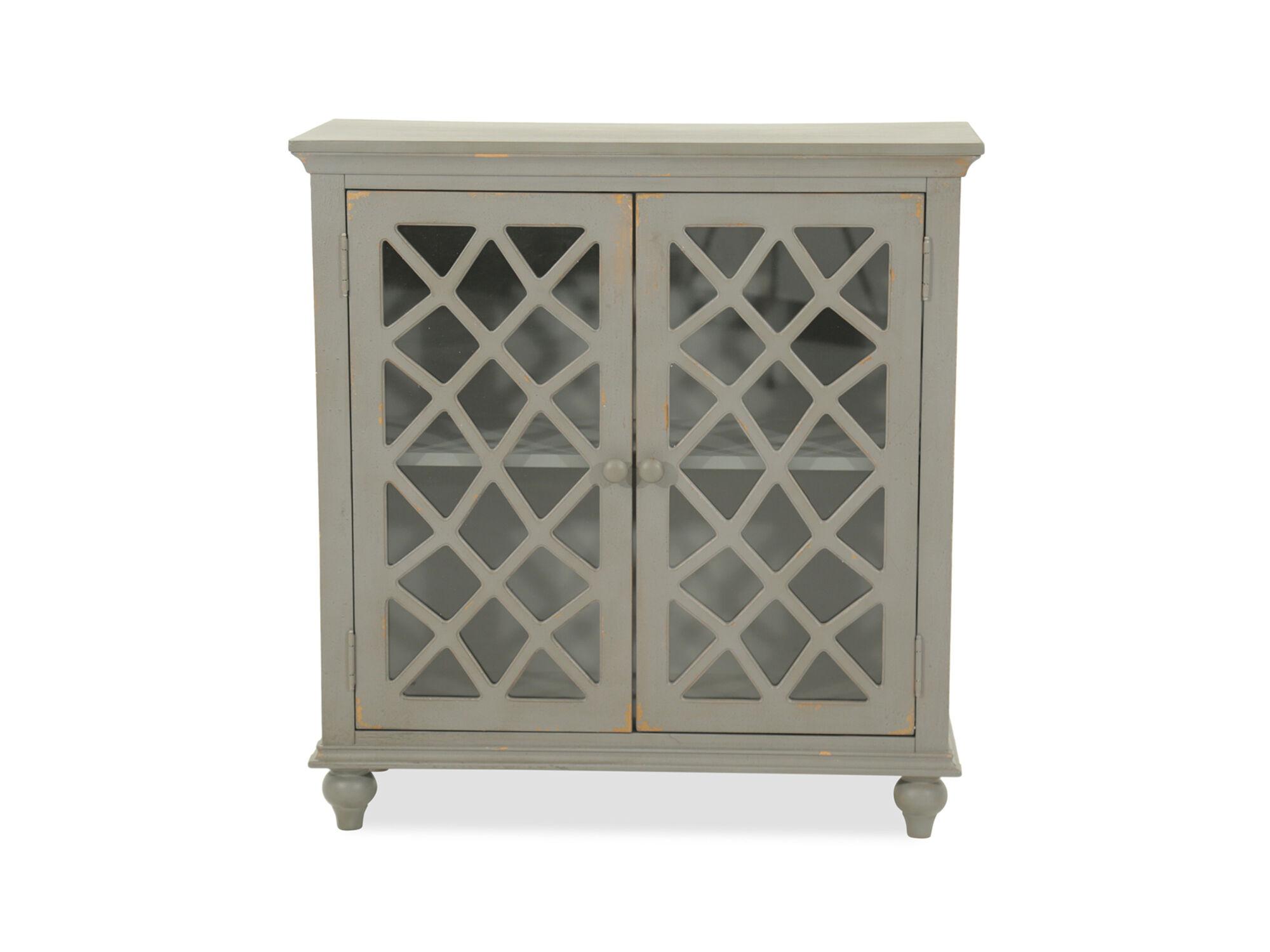 Beau Images 38u0026#39;u0026#39; Lattice Doors Cottage Small Accent Cabinet ...