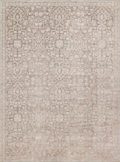 "Traditional 2'-7""x4' Rug in Pewter/Pewter"