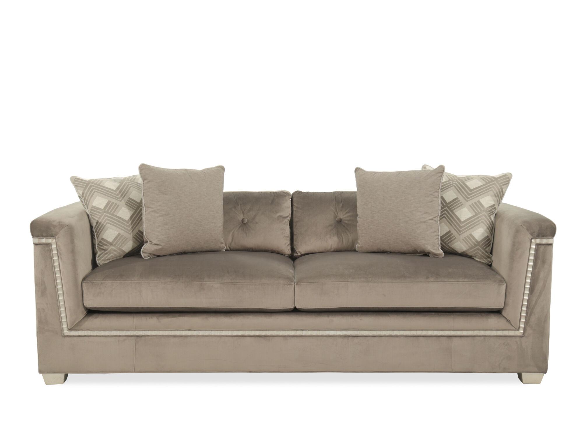 Glamorous Velvet 88.5u0026quot; Shelter Sofa ...