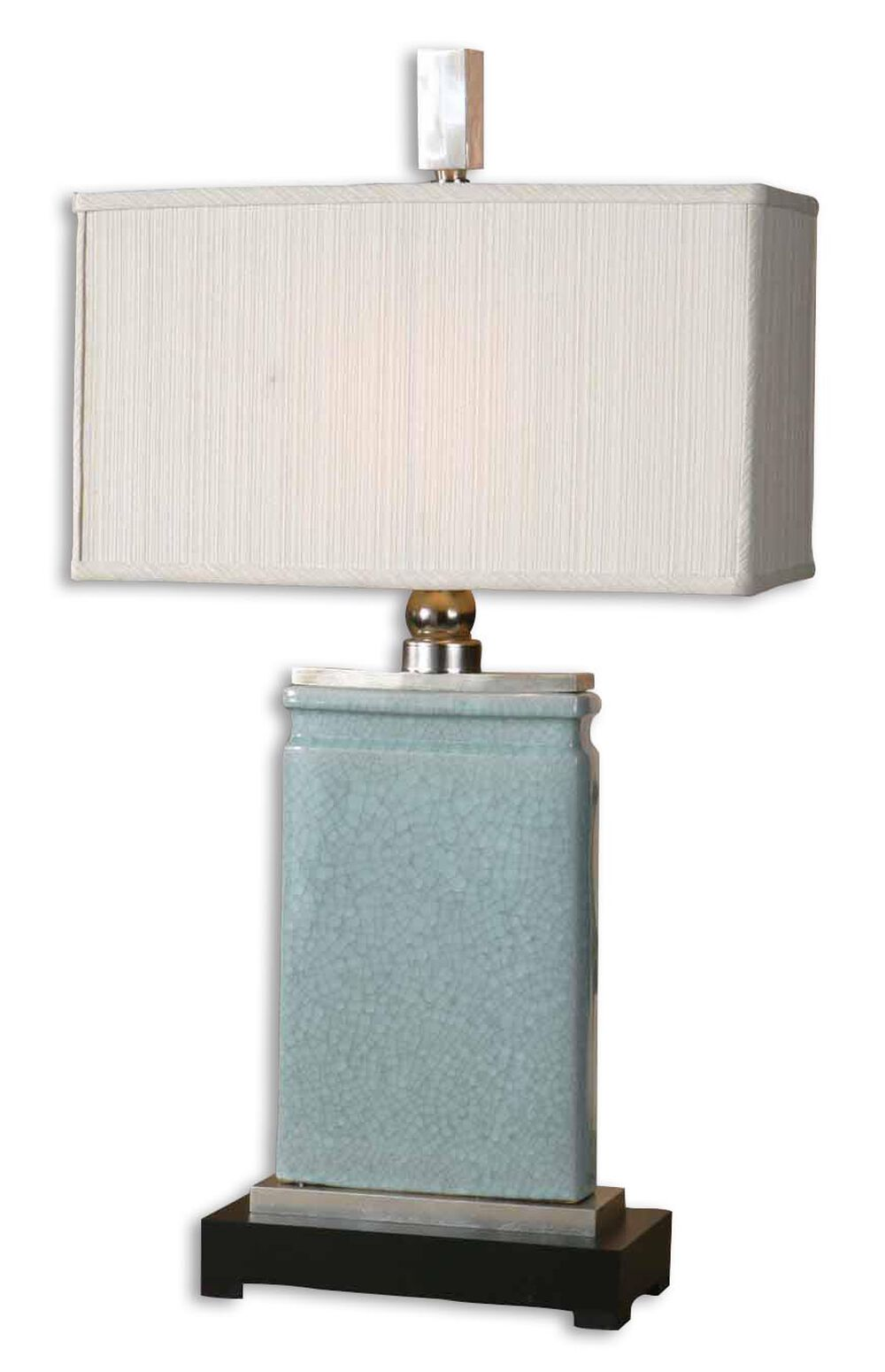 Rectangular Shade Table Lamp In Light Blue Mathis Brothers Furniture