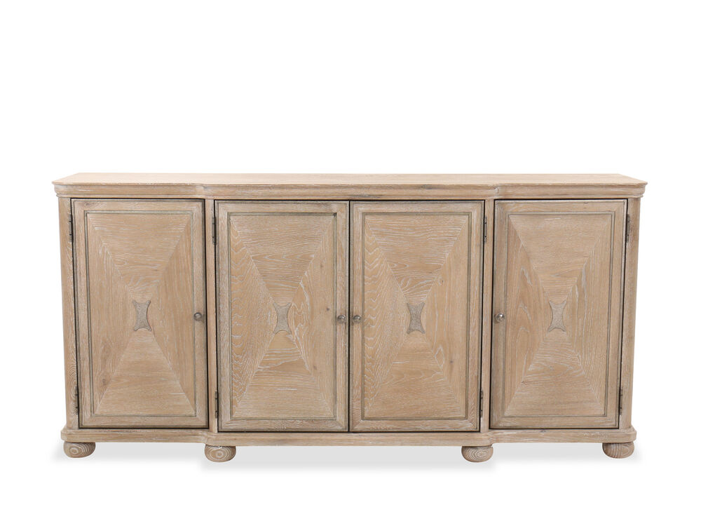 """Casual 78"""" Dining Buffet in Brown"""