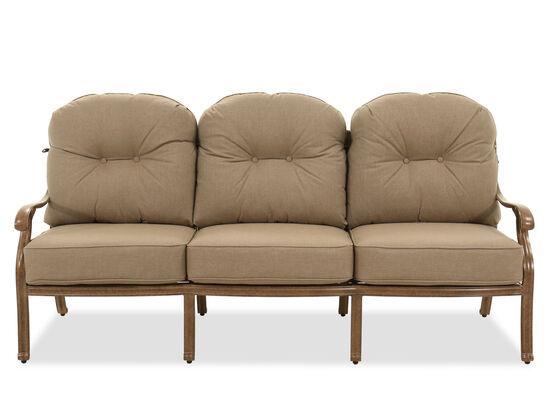 Aluminum High-Back Sofa in Brown