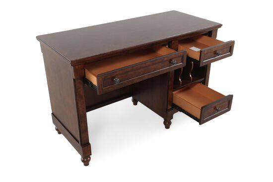 Contemporary Desk in Medium Brown