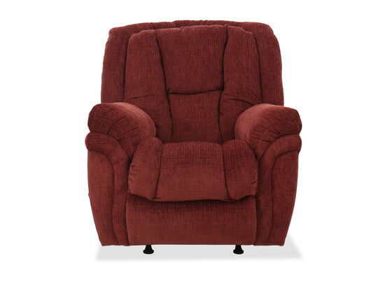 "Casual 41"" Rocker Recliner in Wine"