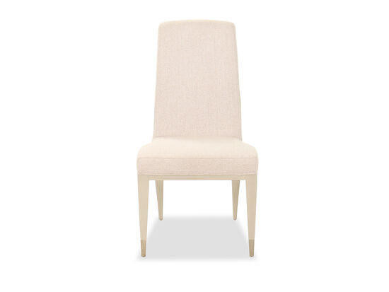 """38"""" Contemporary Side Chair in Beige"""