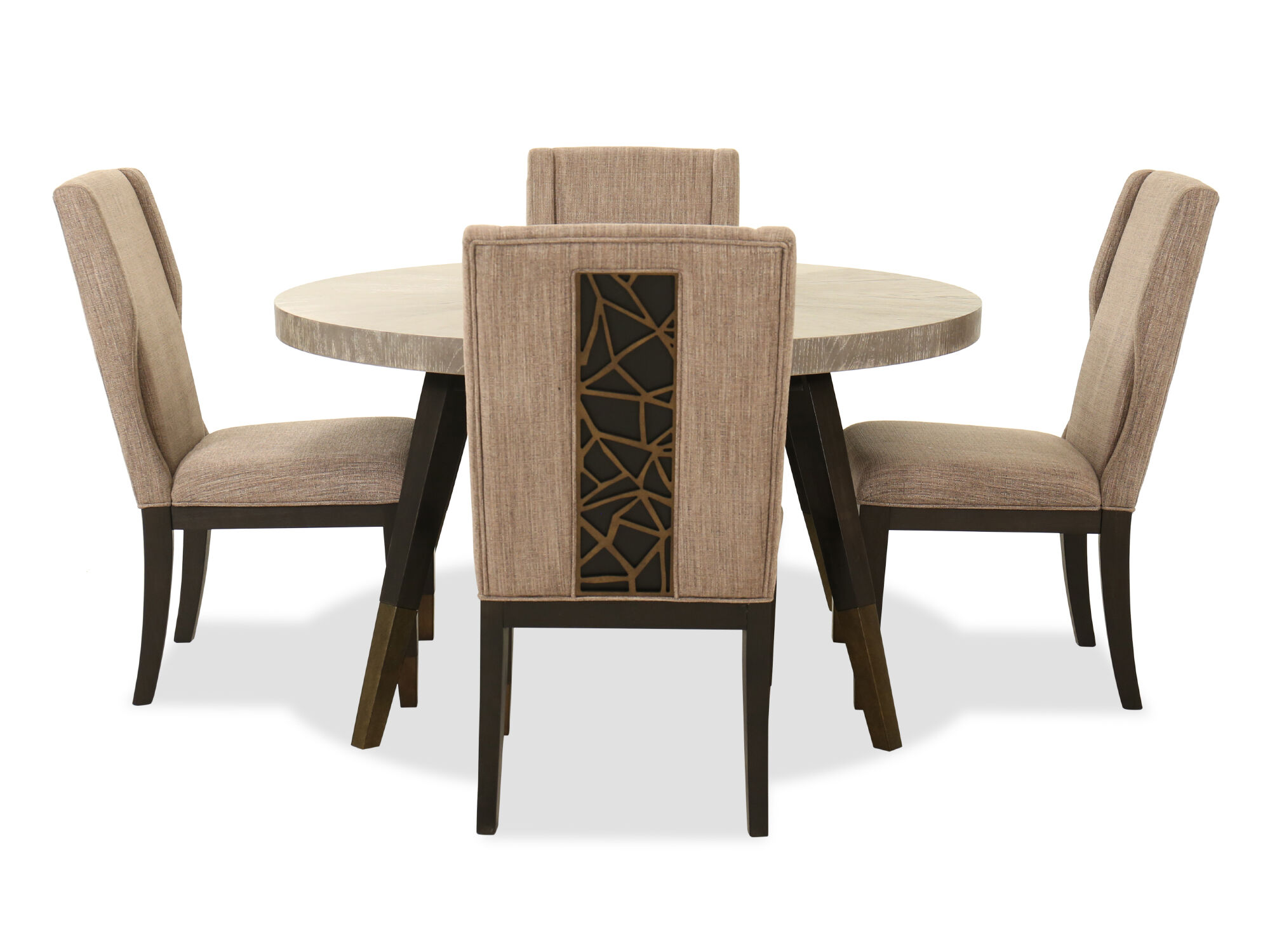 Five Piece Contemporary Dining Set In Coventry Gray Mathis Brothers Furniture