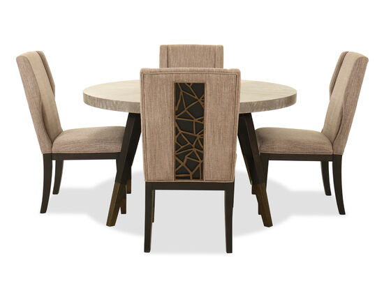 Five-Piece Contemporary Dining Set in Coventry Gray