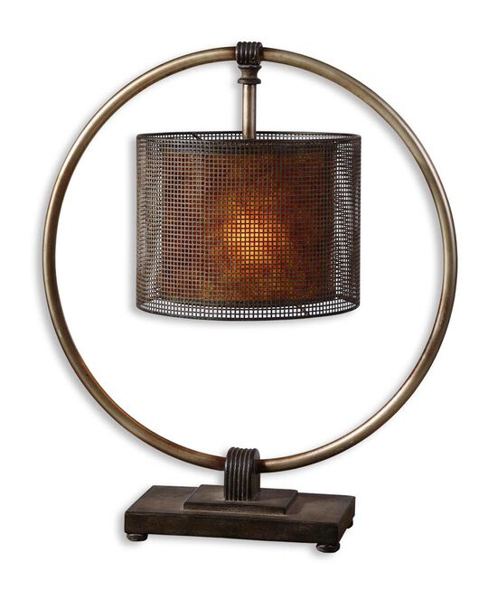 Hanging Shade Table Lamp in Bronze