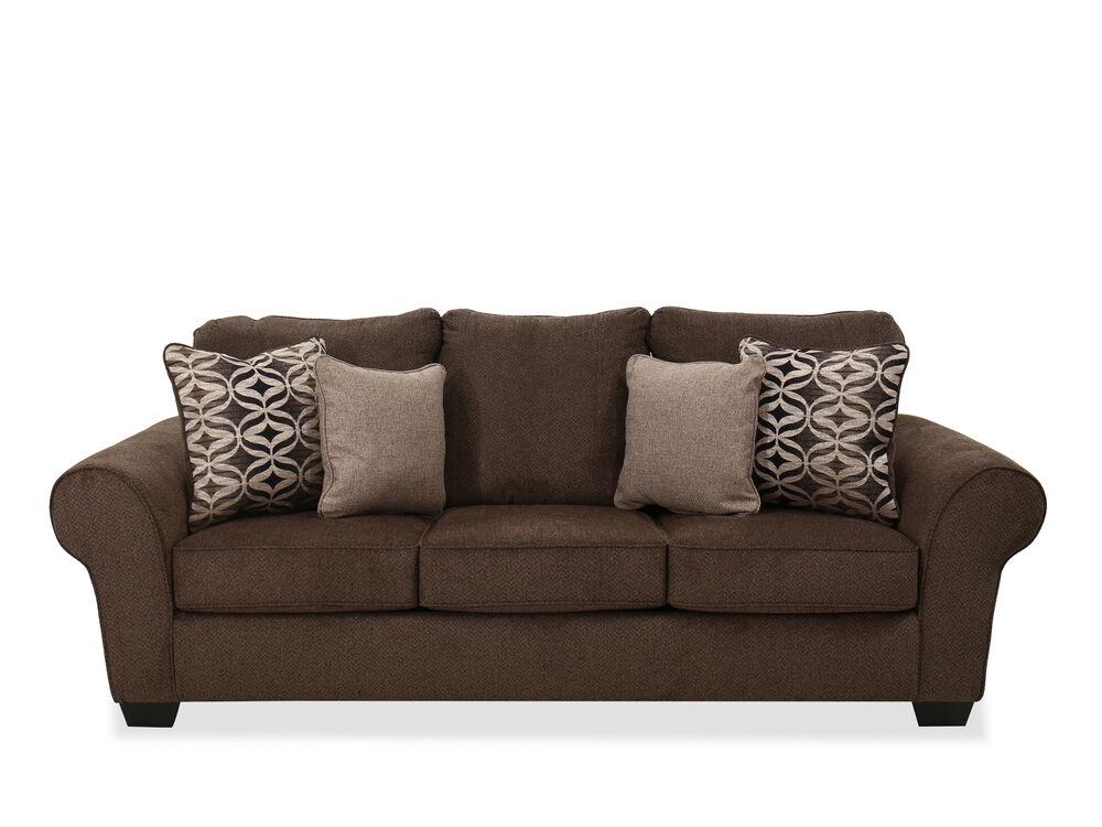 Sofa In Walnut Mathis Brothers Furniture