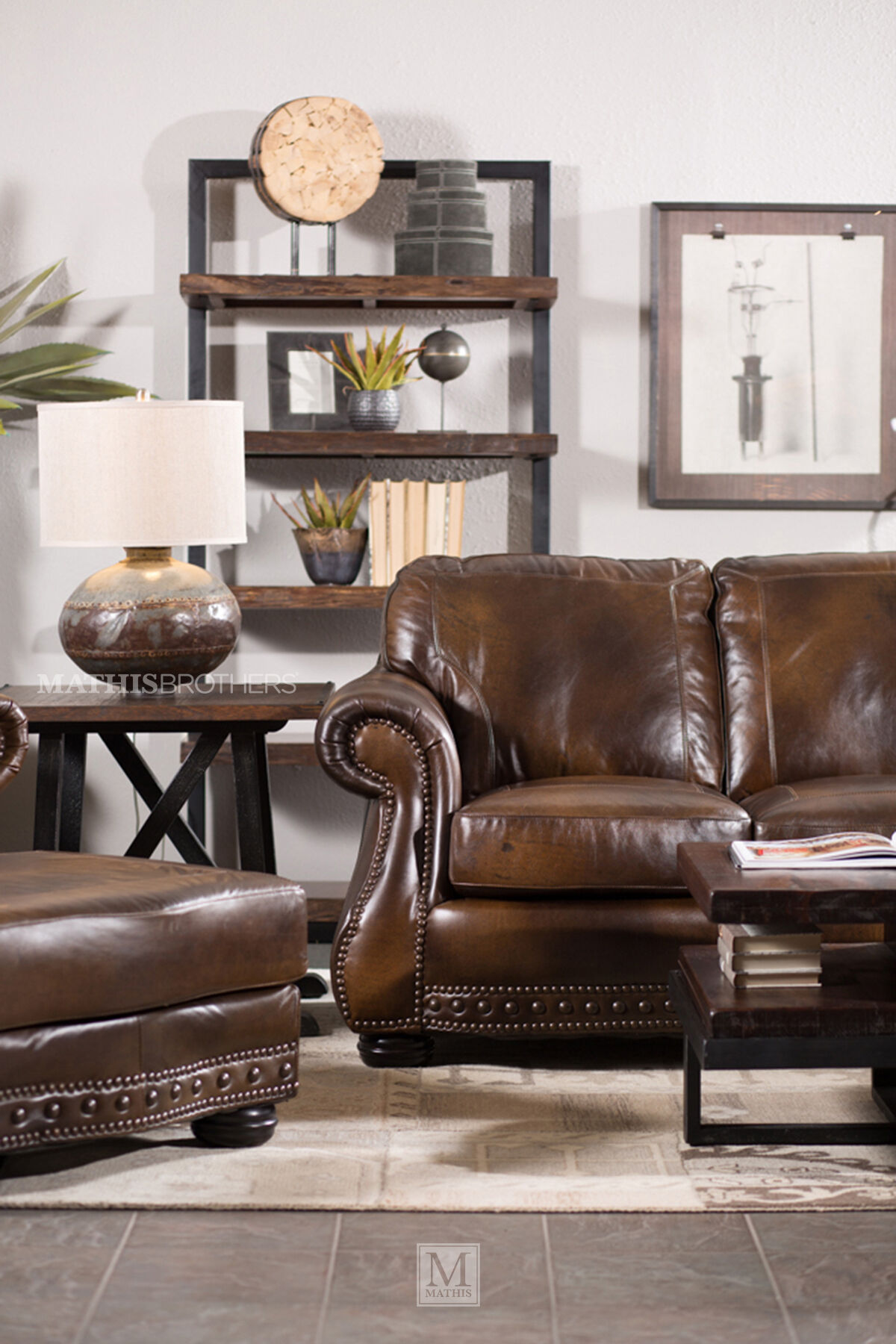 Traditional Leather 88u0026quot; Sofa ...