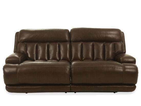 Leather Power Headrest Sofa in Coffee