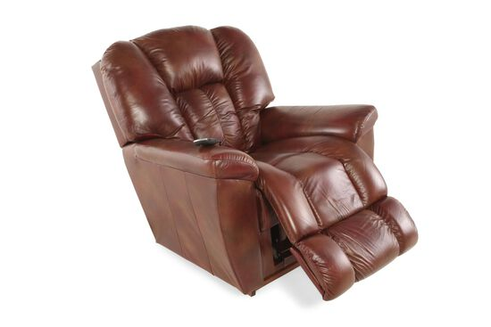 """Traditional Leather 38"""" XR+ Power Recliner in Mahogany"""