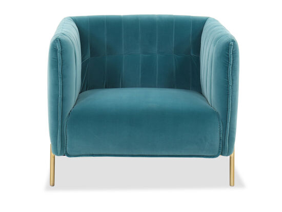 Contemporary Club Chair in Turquoise