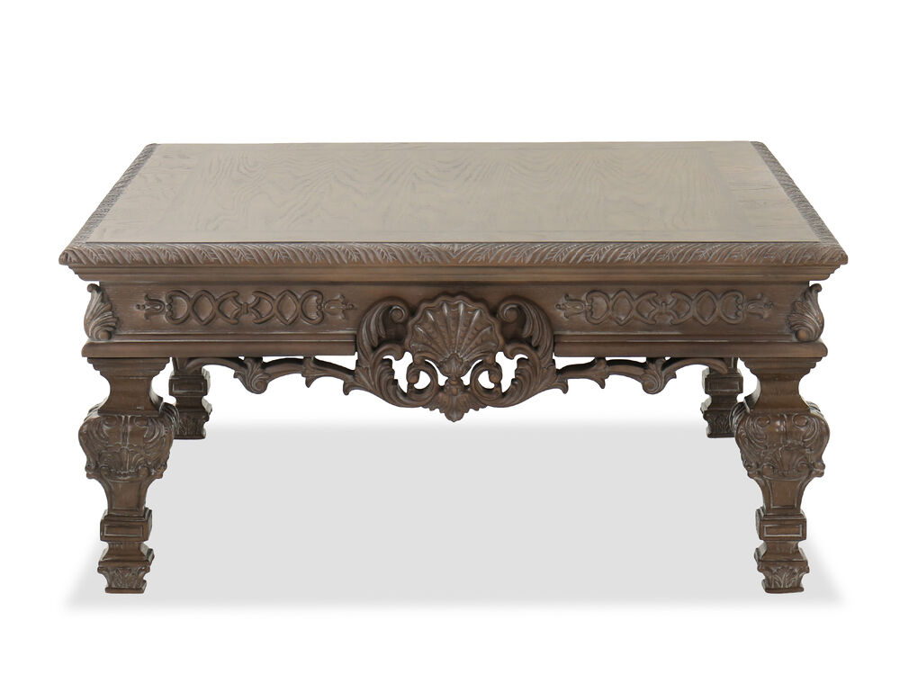 """42"""" Traditional Cocktail Table in Brown"""