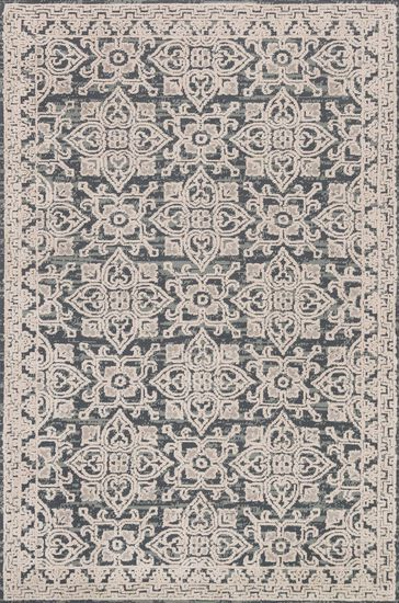 "Contemporary 2'-3""x3'-9"" Rug in Fog/Beige"