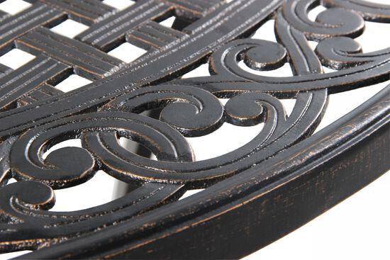 Lattice Designed Transitional Round Bar Tablein Black
