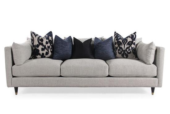 "Low-Profile Mid-Century Modern 45"" Sofa in Stone"