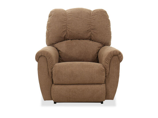 Arched Pillow Arms Casual 38''Rocking Recliner in Mushroom