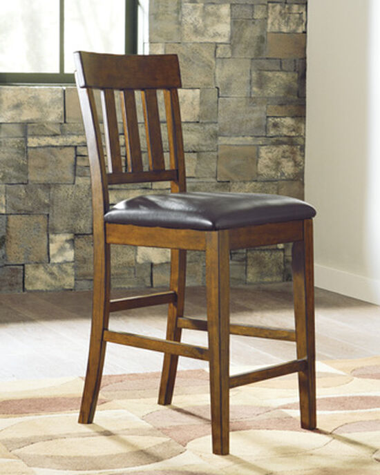 """Casual 41"""" Armless Bar Stool in Burnished Dark Brown"""