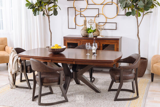 Five-Piece Casual Dining Set in Brown