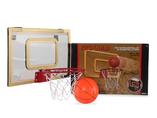 Poof Slinky Pro Gold Over-the-Door Basketball Set