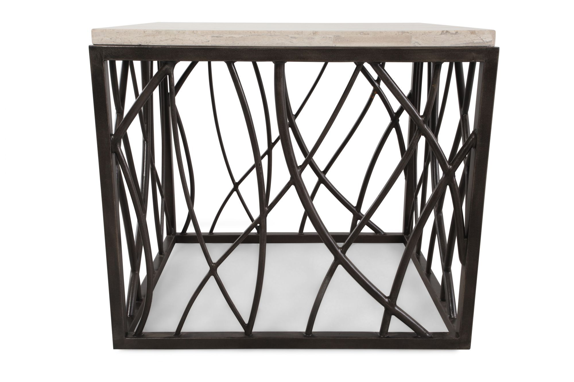 Images Stone Top Square Transitional End Tableu0026nbsp;in Dark Bronze Stone Top  Square Transitional End Tableu0026nbsp;in Dark Bronze