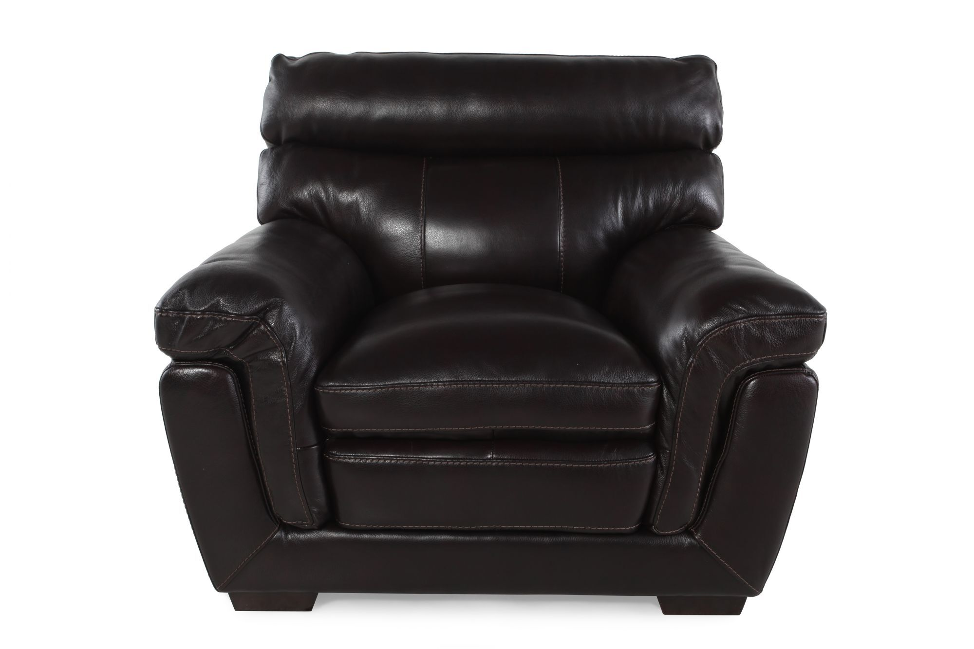 Wonderful Casual Leather 45u0026quot; Chair In Blackberry