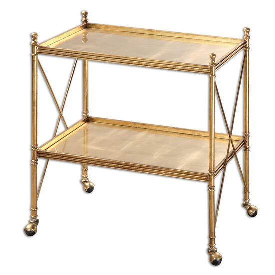 Uttermost Amaranto Gold Serving Cart
