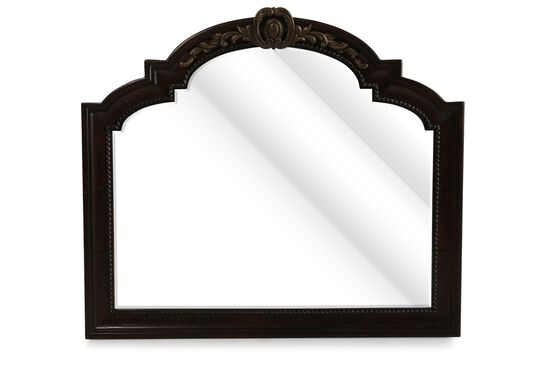 """42"""" Traditional Rope Accented Mirror in Dark Brown"""