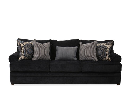 Transitional Rolled Arm 103'' Sofa in Bellamy Slate