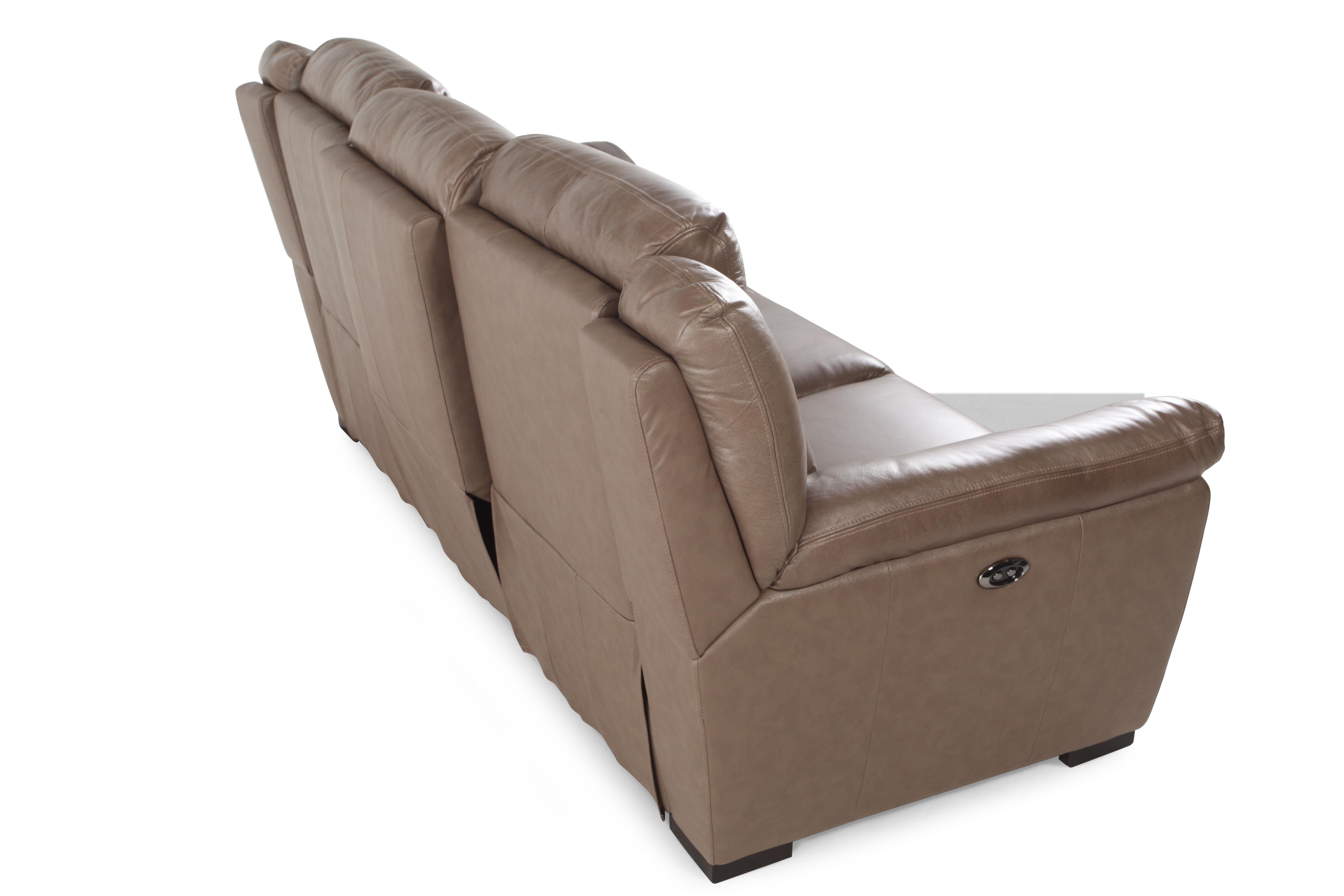Elegant ... Contemporary 88u0026quot; Power Reclining Sofa In Nutmeg Brown. U2039 U203a