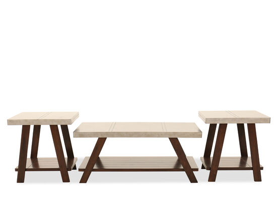 Three-Piece Occasional Table Set in Brown