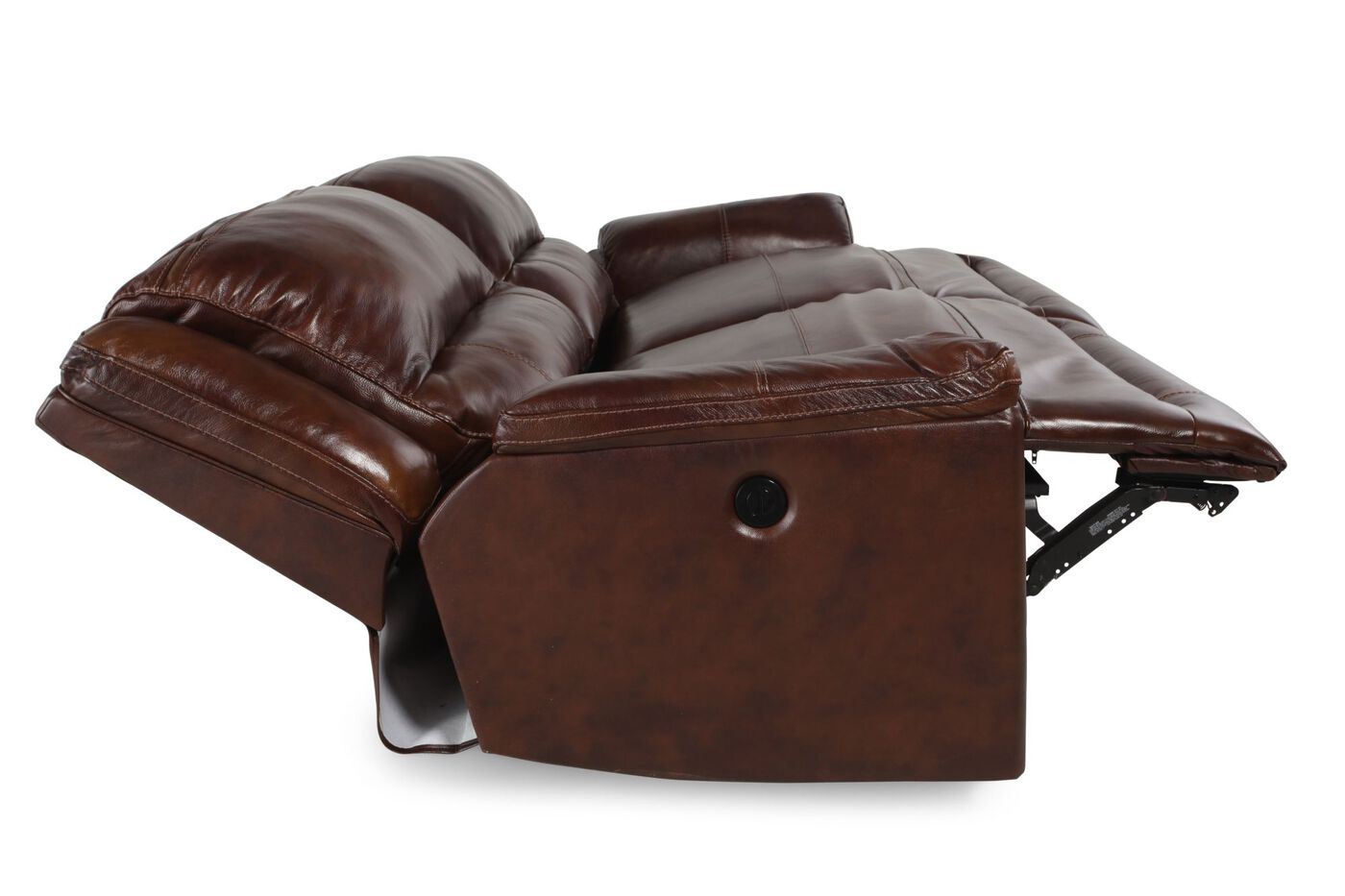 click sofas leather brick room product item sofa reclining bonded living the image furniture black recliner zander change power to