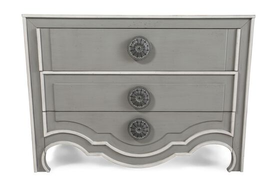 35'' Three-Drawer Traditional Chest in Gray