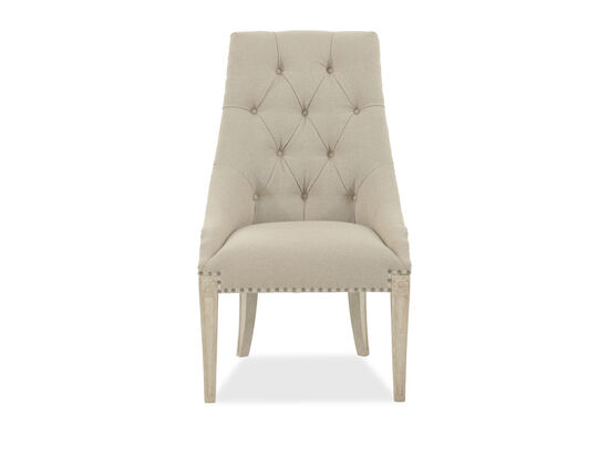 Diamond Tufted-Back 45.5'' Arm Chair in Beige