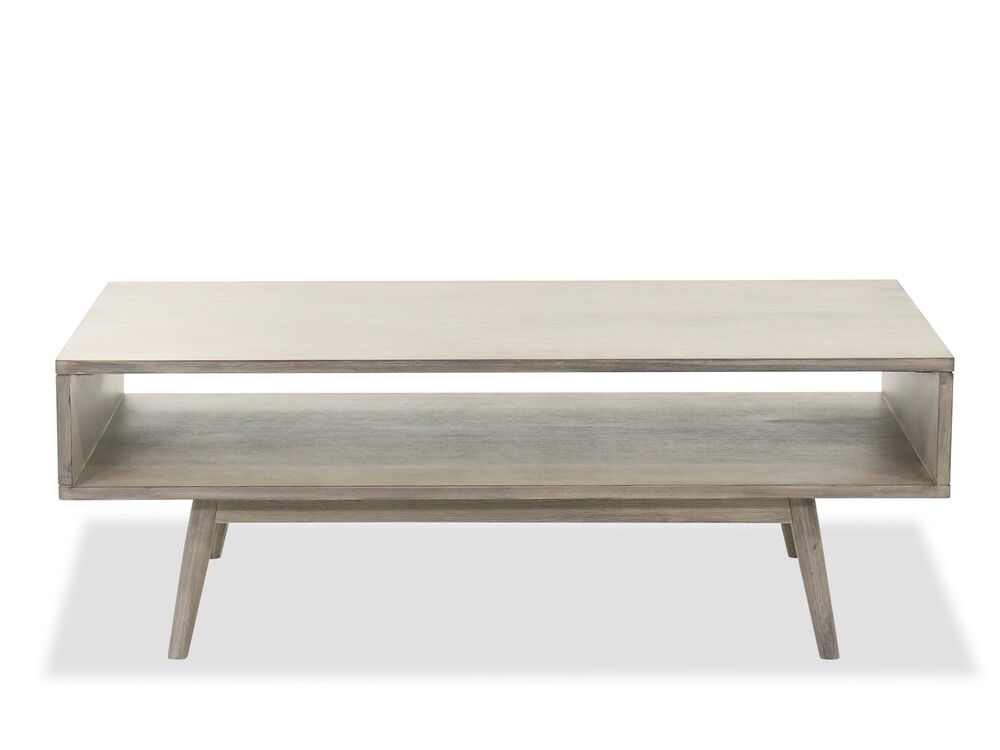 48 Modern Rectangular Cocktail Table In Gray Mathis Brothers Furniture