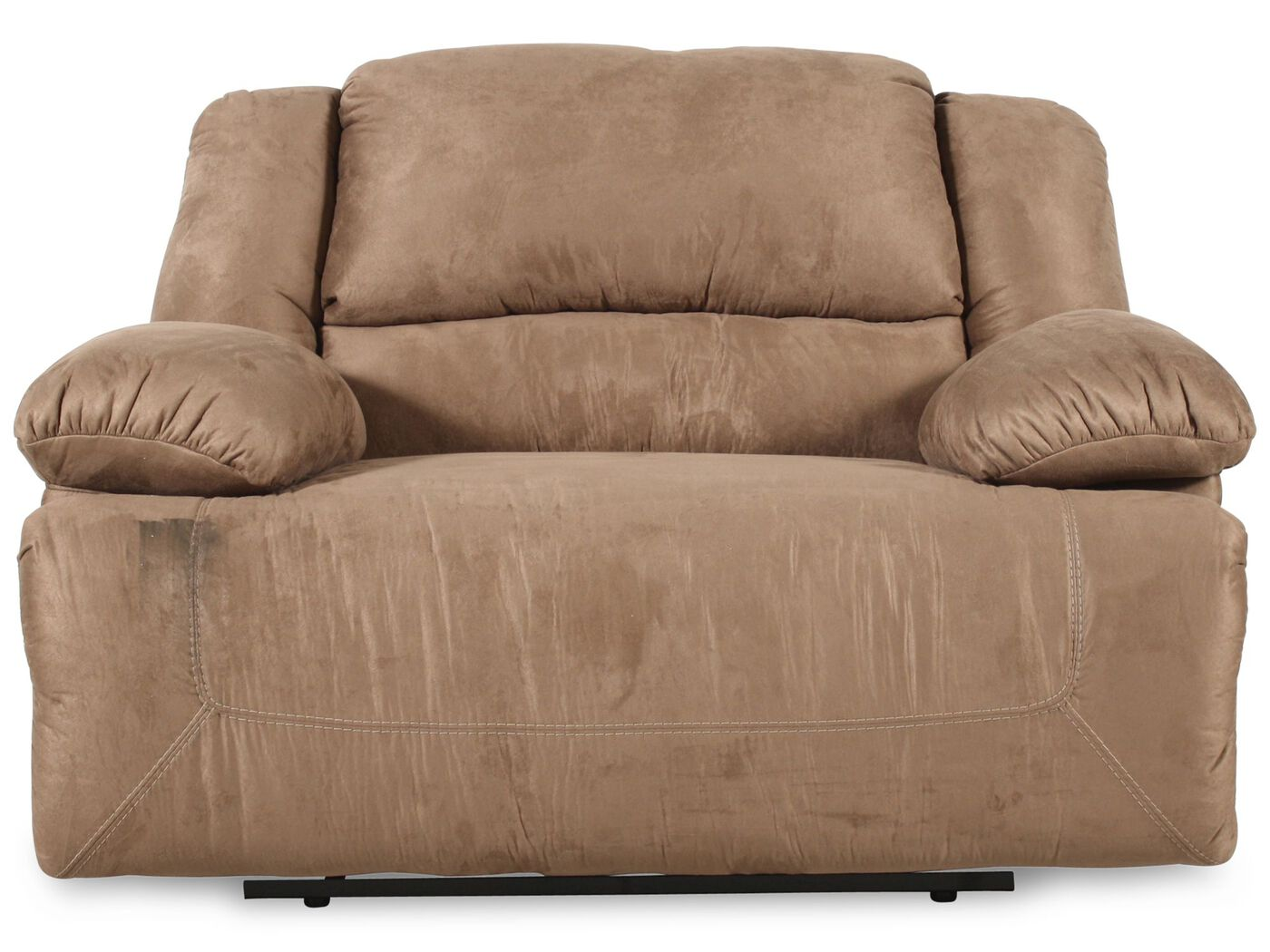 Oversized Contemporary Microfiber 59 Quot Recliner In Mocha