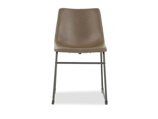 Bucket Seat 31'' Side Chair in Brown