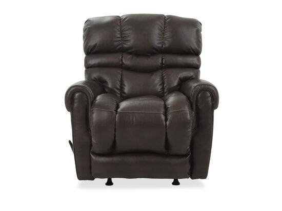 Leather Rocker Recliner in Brown